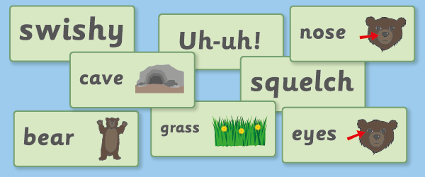 Bear Hunt Word Cards
