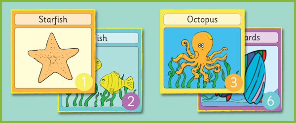 15 x 15 Seaside Cards