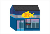 3D Model Building: Fish and Chip Shop