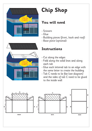 3D Model Building: Fish and Chip Shop| Craft Activities For Kids