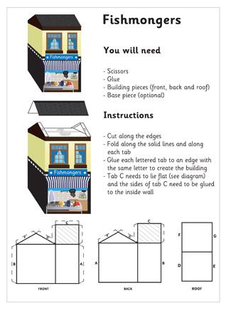 - 3D Model Building: Fishmongers| Craft Activities For Kids