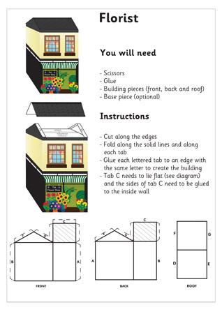 3D Model Building: Flower shop  Craft Activities For Kids