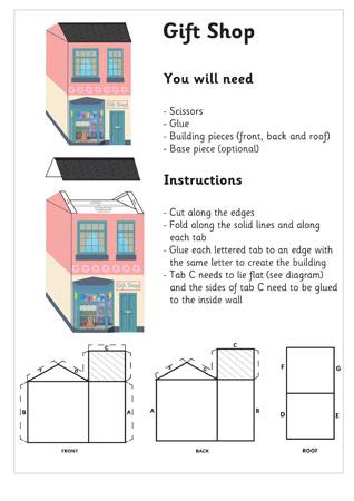 3D Model Building: Gift Shop| Craft Activities For Kids