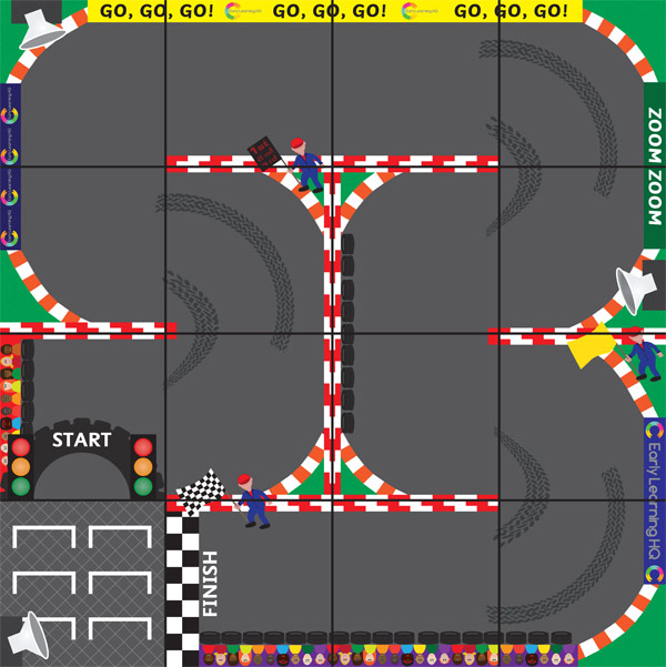 Programmable Robot Racing Track Mat