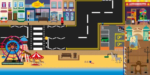 seaside themed programmable robot