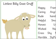 Three Billy Goats Gruff Character Writing Frames