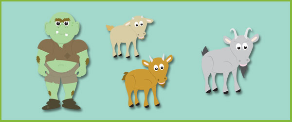 Three Billy Goats Gruff Story Cut-Outs | Free Early Years ...
