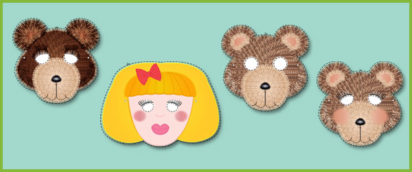 Goldilocks and the Three Bears Role-Play Masks