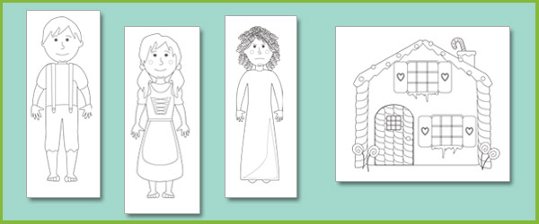 early learning resources hansel and gretel colouring sheets