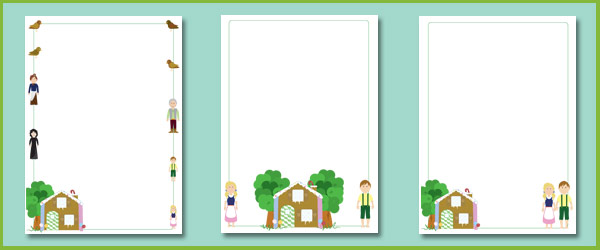 hansel and gretel notepaper