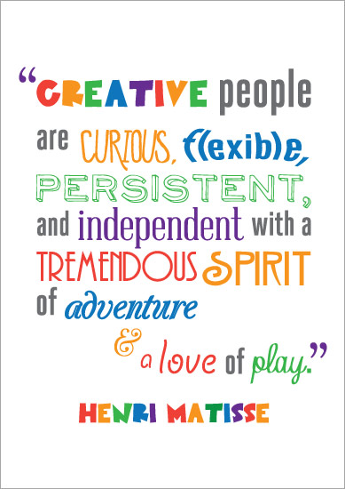 Inspirational Quotation Poster: Henri Matisse