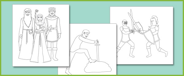 King Arthur Colouring Sheets Free Early Years Primary Teaching