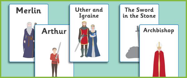 King Arthur Display Posters