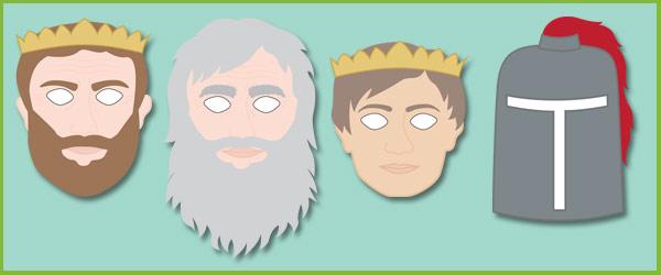 King Arthur Role-Play Masks
