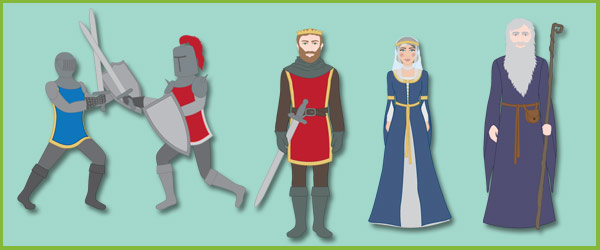 King Arthur Story Cut-Outs