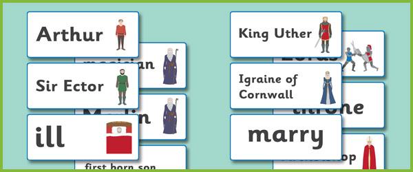 King Arthur Keyword Cards
