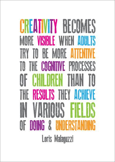 Inspirational Quotation Poster: Loris Malaguzzi 2