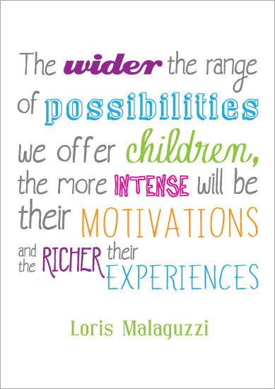 Inspirational Quotation Poster: Loris Malaguzzi 3
