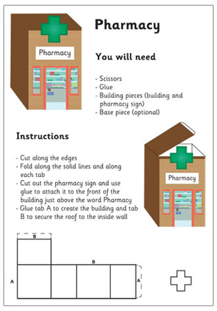 3d Model Building Pharmacy Craft Activities For Kids