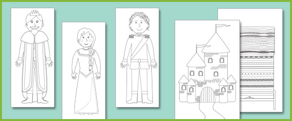 The Princess And The Pea Colouring Sheets Free Early