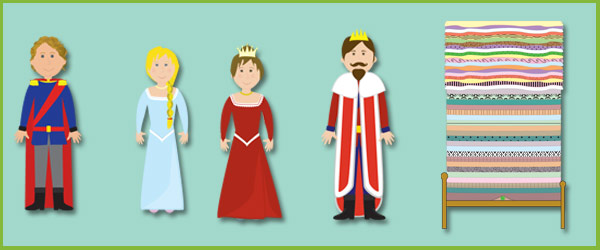 The Princess And The Pea Cut Outs Characters Free Early Years Amp Primary Teaching Resources