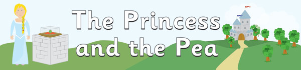 The Princess and the Pea Display Banner