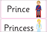 The Princess and the Pea Keyword Cards