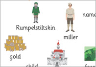 Rumpelstiltskin Word and Image Mats