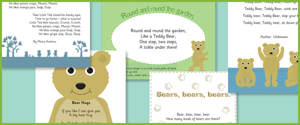 Early Years Bear Poems | Free Early Years & Primary Teaching ...