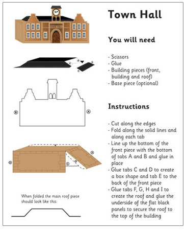 3D Model Building: Town Hall| Craft Activities For Kids