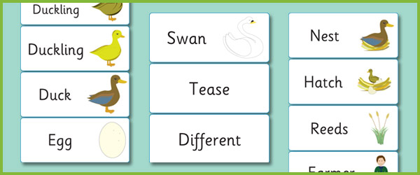The Ugly Duckling Keyword Cards Free Early Years