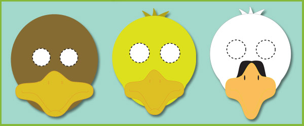 The Ugly Duckling Role Play Masks Free Early Years