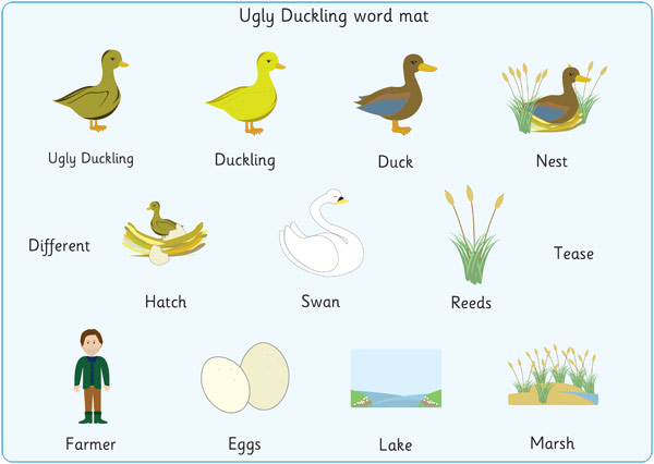 The Ugly Duckling Word Mats Free Early Years Amp Primary