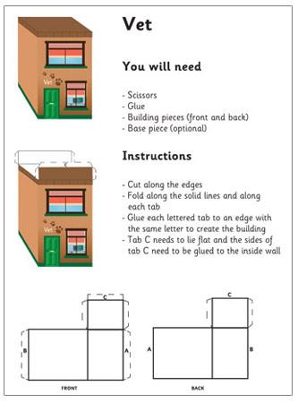 3d Model Building Vets Craft Activities For Kids Free