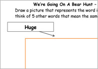 Bear Hunt advjective activity