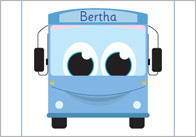 Bertha Bus Alliteration Set
