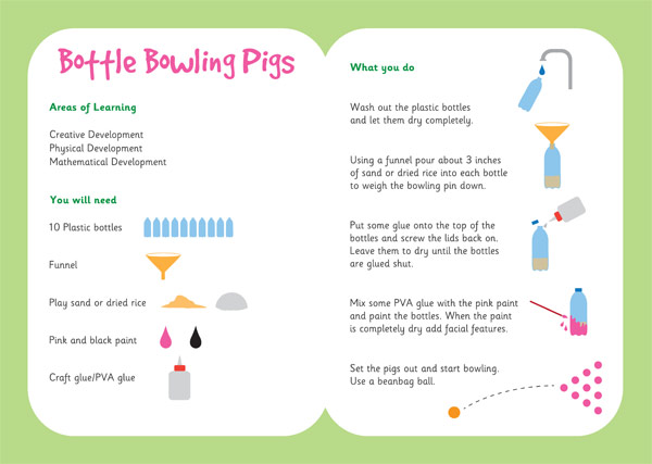 Bottle Bowling Pigs Three Little Pigs Activity Free