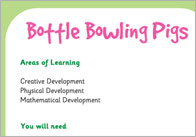 Bottle Bowling Pigs – Three Little Pigs Activity