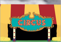 Circus small world background