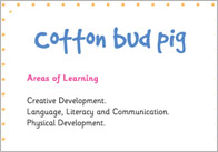 Cotton Bud Pig – Three Little Pigs Activity