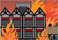 Great fire of London small world background