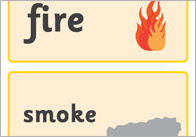 Great fire of London word cards
