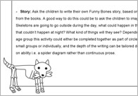 Funny Bones story activities