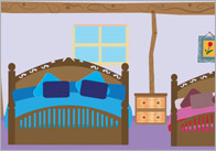 Goldilocks small world background - bedroom