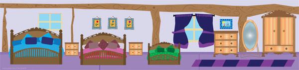 Goldilocks Small World Scenery - Bedroom