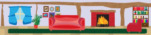 Goldilocks And The Three Bears Living Room Backdrop