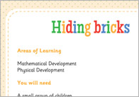 Hiding Bricks – Three Little Pigs Activity