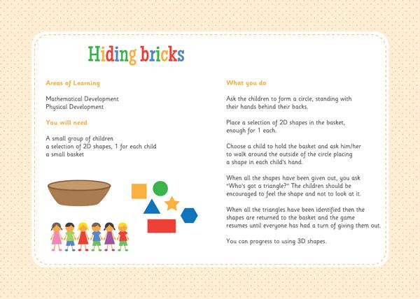 Hiding Bricks – Three Little Pigs Activity