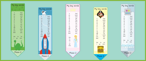 Phase 2 High Frequency Bookmark Free Early Years