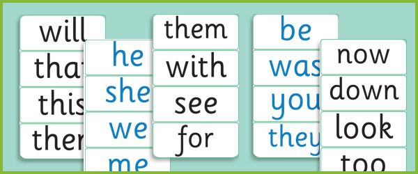 Phase 3: Decodable and Tricky Word Cards